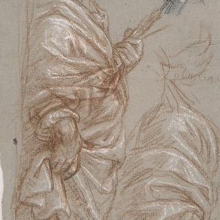성 루가의 자화상의 주름진 천 습작