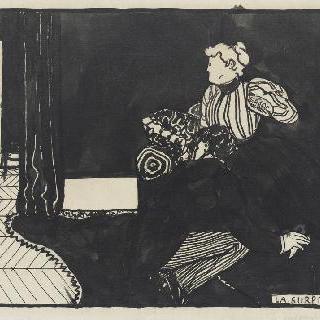 놀라움, 1897년경의 친밀함 연작의 목판화용 준비 데생