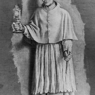 성체현시대와 촛대를 들고 있는 성 노르베르