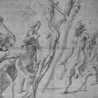마르시야스의 껍질을 벗기는 아폴론