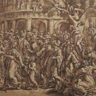 로마의 콜로세움 주위에 몰려 있는 사람들