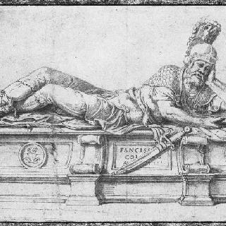 곤자그의 프랑수아 2세 묘지 초안
