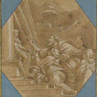 리키아 아폴론의 신탁을 의뢰하는 프시케의 아버지