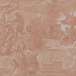 카리브디스와 시칠리아 해협을 건너며 세이렌들과 대적하는 오디세우스