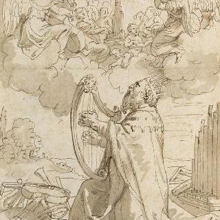 하프를 연주하는 다윗왕