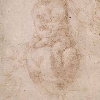 아기 예수를 안고 있는 성모, 성 조셉과 세례 요한 : 현성용 크로키