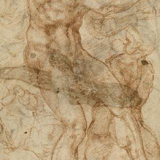 세 명의 소천사들에게 둘러싸인 탬버린을 들고 춤추는 목신