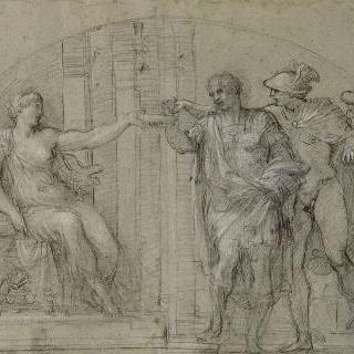 메르쿠리우스와 함께 키르세 앞에 있는 율리시즈