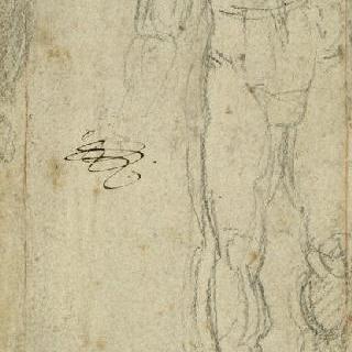십자가 발 밑의 서 있는 성모 크로키