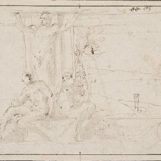 남상주 (男像柱), 남상주 발 아래 두 판 사이에 이나시오 둘이 있다