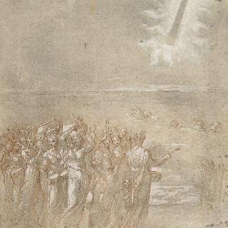 홍해를 건넌 후의 히브리 백성들 행렬