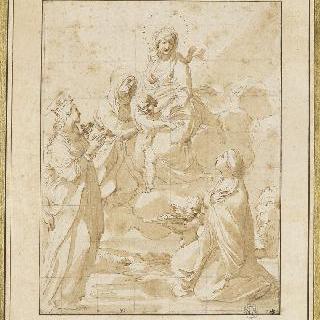 성녀 안느와 성녀 쥐스틴, 성녀 도로테와 함께 있는 성모와 아기