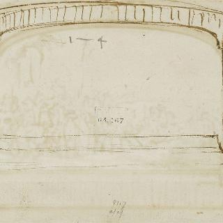작품 앞면의 도안된 테두리 초벌화