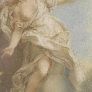 구름 위의 반라의 여인