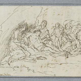 성녀들과 천사들이 슬퍼하고 있는 예수의 죽음