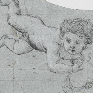 한 개의 항아리를 지켜낸 정령, 루브르 박물관의 천정화 습작