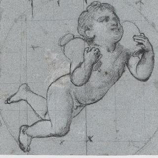 두 개의 항아리를 지켜낸 정령, 루브르 박물관의 천정화 습작
