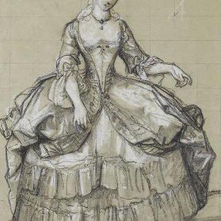 18세기 의복을 입은 여인