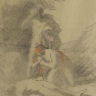 아벨의 시신을 찾아낸 아담과 이브