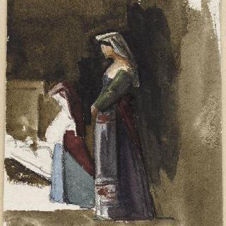 기도하는 이탈리아 여인