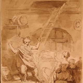 라퐁텐 우화집을 위한 삽화들. 파프피퀴에르의 악마