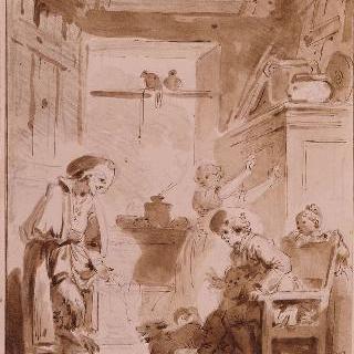 라퐁텐 우화집을 위한 삽화들. 벨페고르