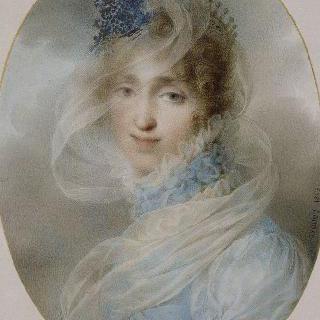 오르탕스 왕비의 개인 연애시 화첩의 오르탕스 왕비의 초상