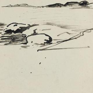 바닷가 (초벌화)