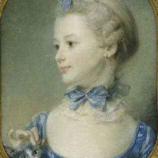 고양이를 안고 있는 어린 소녀