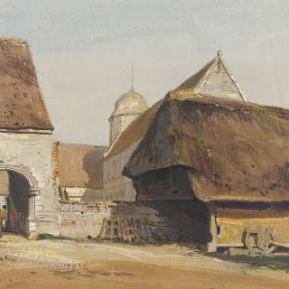 바랑주빌 앙고 성의 농가의 안쪽 문