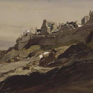 북쪽 생말로의 성벽들