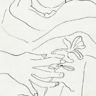 무제, 꽃을 든 여인, 초상 습작