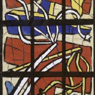무제, 오댕쿠르 성당의 스테인드글라스 모형, 채찍