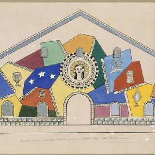 노트르담드투트그라스 성당의 모자이크 모형 (플라토 다시, 오트사부아)