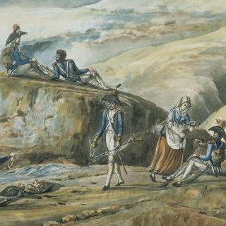 1800년 5월 18일, 프랑스 군대의 그랑 쌩 베르나르 통과
