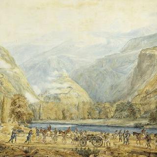 1800년 6월 1일 오스트리아 군대가 있는 바르 요새 정경