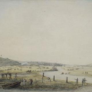 1804년 7월 불로뉴 항구 정경 (항구 작업)