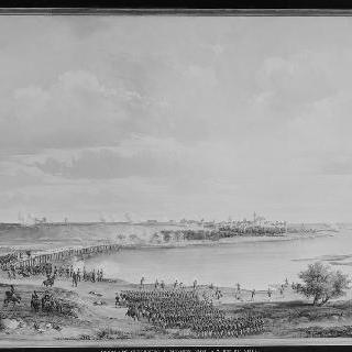 군츠부르그 전투, 1805년 10월 9일, 다리 위에서 본 전경
