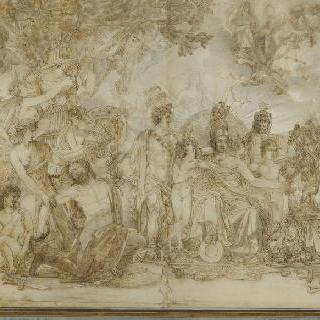 1806년 위대한 나폴레옹의 영광을 그린 우의화