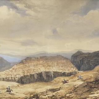 1837년 10월 6일 콘스탄틴 시 입구에 도착한 프랑스 2차 원정대