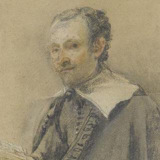 손에 책을 들고 있는 남자의 흉상 초상