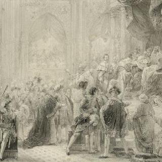 1825년 5월 29일, 랭스에서 거행된 샤를르 10세 대관식