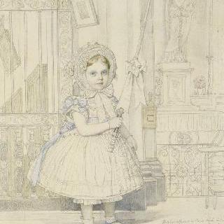 마드무아젤 길의 초상, 앵그로의 대녀 : 예배당 안의 양초를 든 손
