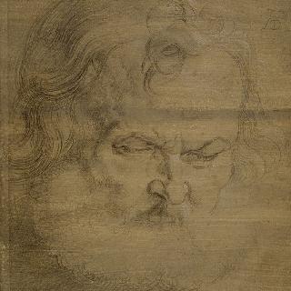 뮌헨의 사도 바울 그림에 나타난 수염난 남자 두상 습작