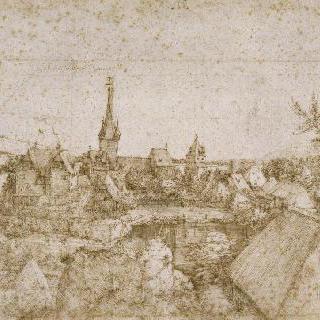 교회 종탑이 굽어보는 마을