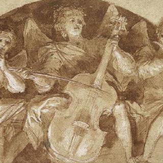 천창 안의 세 음악 천사