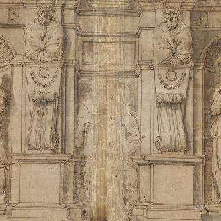 교황 율리오 2세의 무덤 하위 부분
