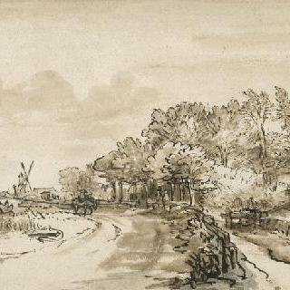 트롬펜부르그 근처 암스텔 기슭