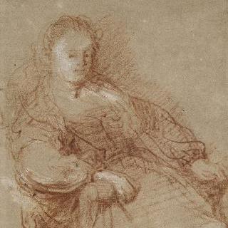 안락의자에 앉아있는 사스키아의 초상
