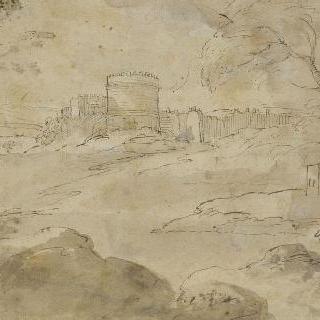 풍경. 발체타 계곡의 요새화된 도시의 안쪽